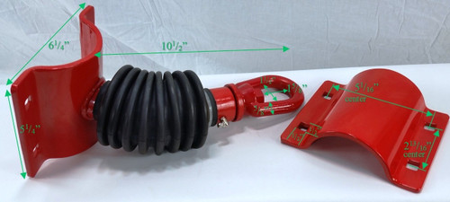 "Tire Swivel 3 1/2"" OD Pipe - 1 Loop Extra Heavy Duty Dims"