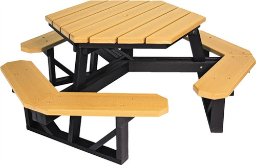 Hexagonal Recycled Plastic Picnic Table