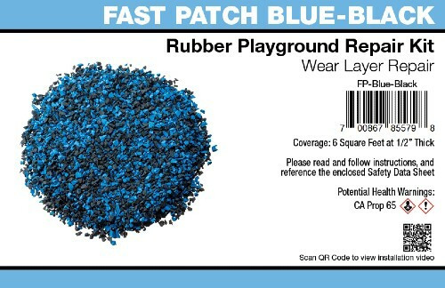 Fast Patch Blue Black Poured-in-Place Rubber Surface Playground Repair Kit