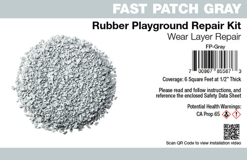 Fast Patch Gray Poured-in-Place Surfacing Repair Kit Fix Rubber Playground