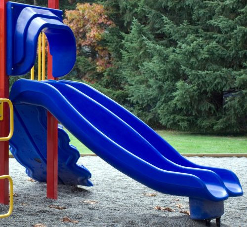 "48"" Triple Rail Replacement Playground Slide"