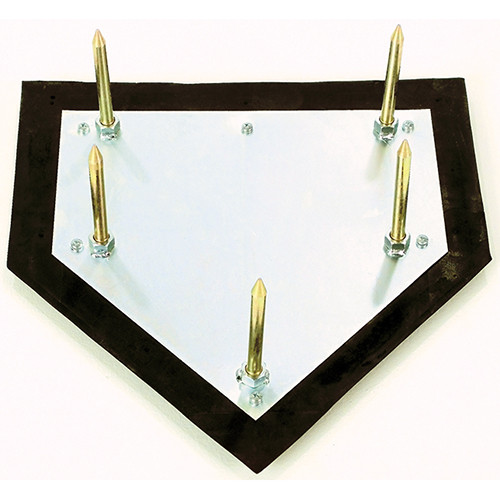 Major league home plate with 5 spike anchor