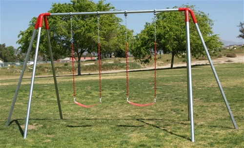 2 Swing Metal Swing Set