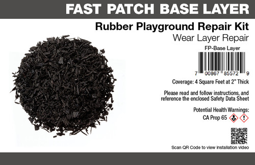 Fast Patch Base Layer  Poured-in-Place Surfacing Repair Kit Fix Rubber Playground