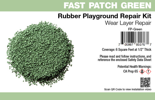 Fast Patch Green Poured-in-Place Surfacing Repair Kit Fix Rubber Playground