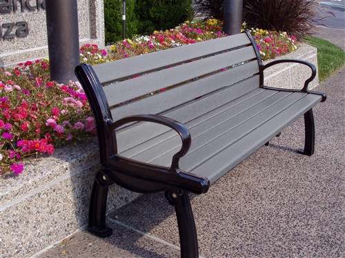 8' Heritage Park Bench_Recycled Plastic Slats