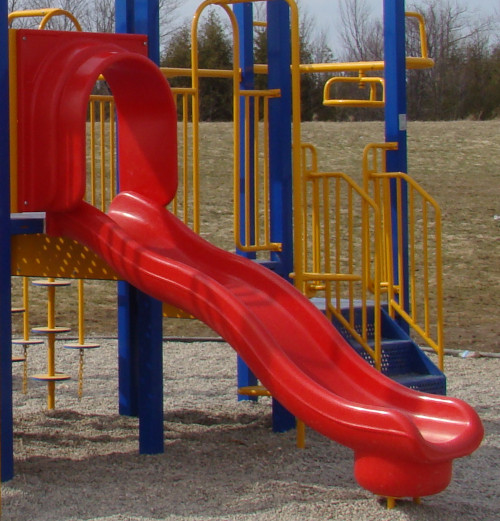 Playground Replacement Slides Equipment