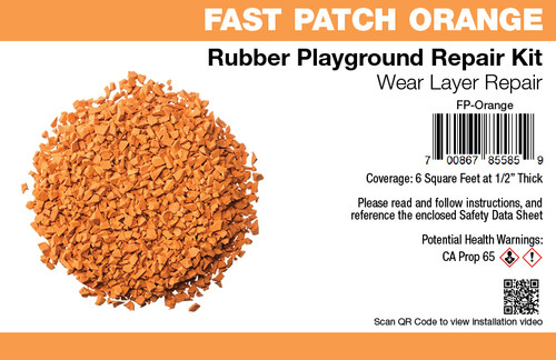 Fast Patch Orange Poured-in-Place Surfacing Repair Kit Fix Rubber Playground