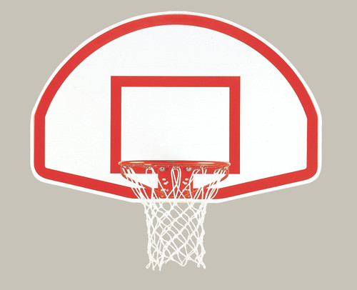 Backboard with shooters square
