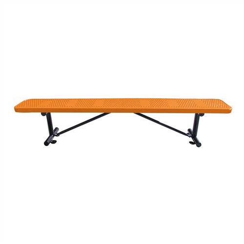 10' perforated Steel Bench without Back
