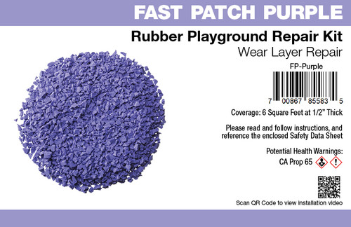 Fast Patch Purple Poured-in-Place Surfacing Repair Kit Fix Rubber Playground