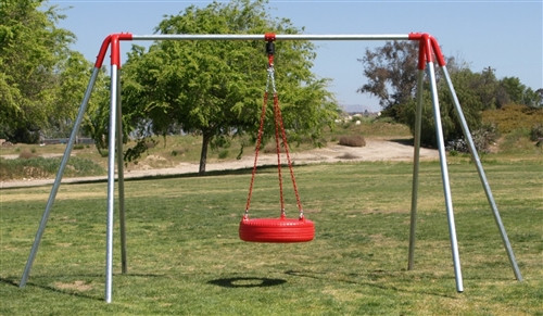 1 Tire Swing 1 Bay 6' HD Swing Set