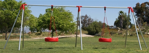 2 Tire Swing 2 Bay HD Tire Swing Set