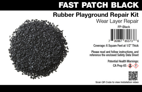 Fast Patch Black Poured-in-Place Surfacing Repair Kit Fix Rubber Playground