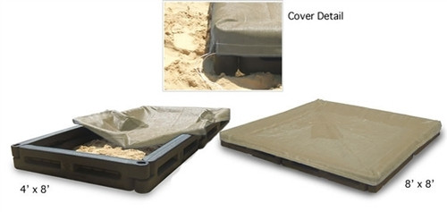 4 x 8 Commercial Sand Boxes with Fitted Cover