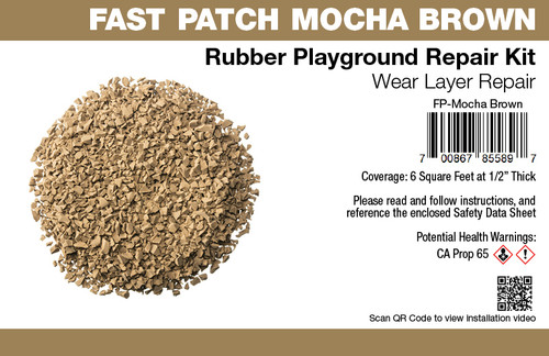 Fast Patch Mocha Brown Poured-in-Place Surfacing Repair Kit Fix Rubber Playground