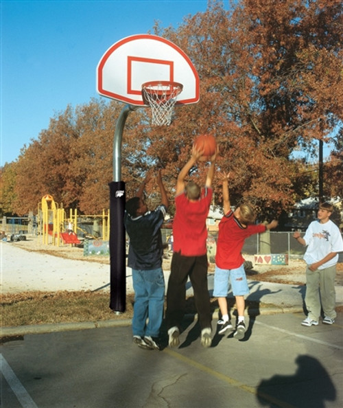 "41/2"" Outdoor Basketball System with Aluminum Fan Backboard"