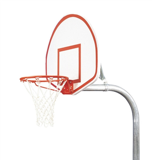 "3 1/2"" Outdoor Basketball System with Aluminum Fan Backboard"