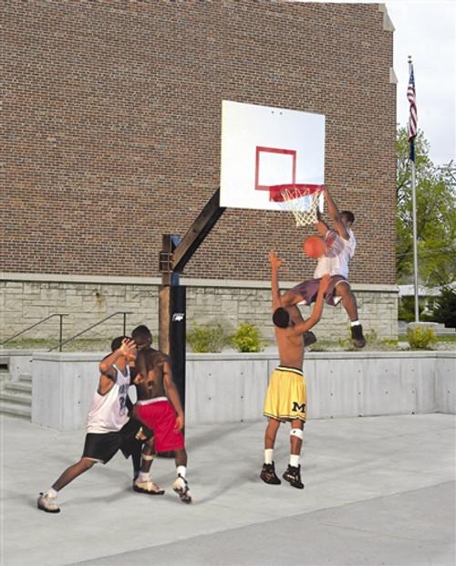 Outdoor Steel Backboard Basketball System
