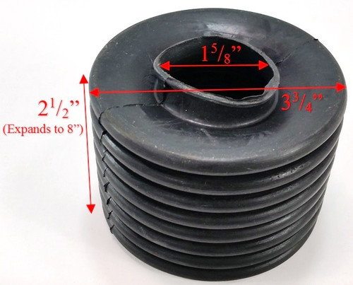 Tire Swivel Replacement Boot Dims