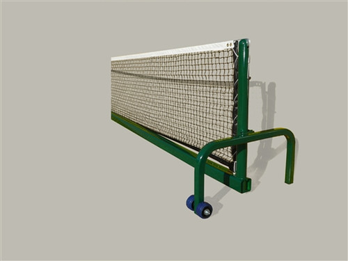 green portable tennis net system