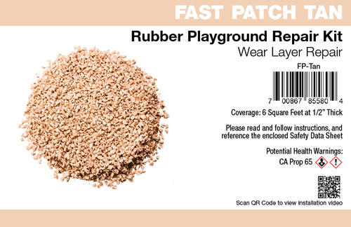 Fast Patch Tan Poured-in-Place Surfacing Repair Kit Fix Rubber Playground
