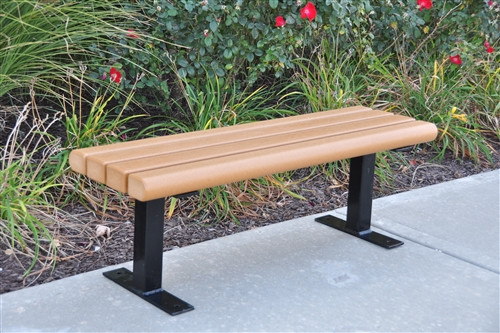 4' Creekside Recycled Plastic Park Bench