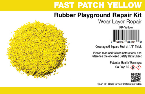 Fast Patch Yellow  Poured-in-Place Surfacing Repair Kit Fix Rubber Playground