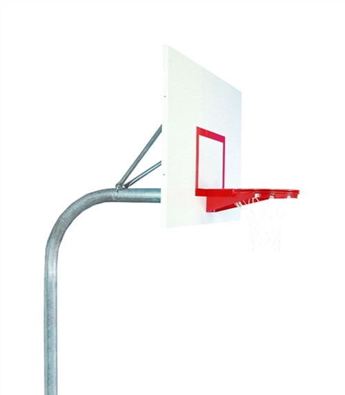 "4 1/2"" Outdoor Basketball System with Rectangular Steel Backboard"