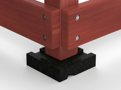 perfectly fitting level blocks for playground fencing