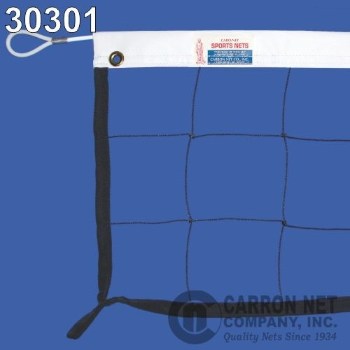 Hercules Competition Volleyball Net with cable top