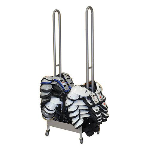 Shoulder pad rack