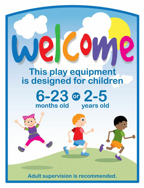Play Equipment Age Recommendation Sign