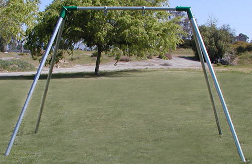 No Swing 1 Bay HD Swing Set 8' High