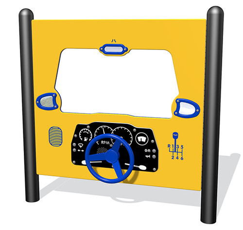 Driving activity panel for playground
