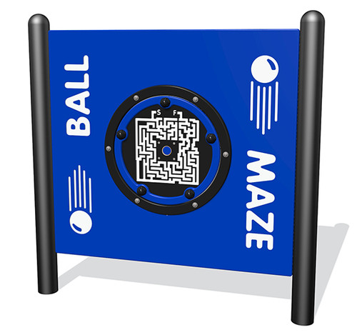 Ball maze activity equipment