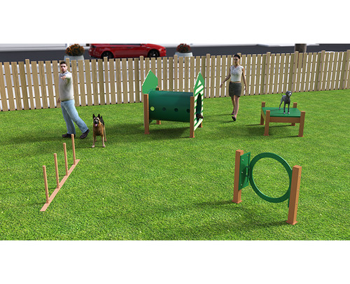 Recycled Small Dog Course - 4 piece - Green-Beige
