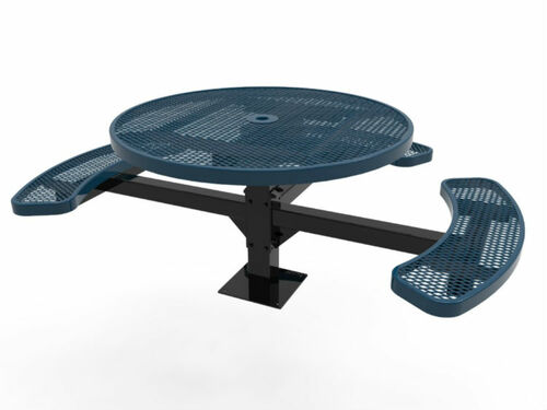 Round ADA 3 Seat Metal Picnic Table