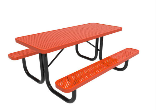 Rectangular Punched Steel Table - 8""