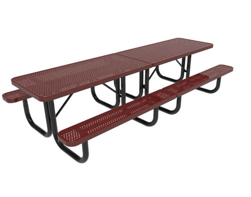 10' Punched Steel Picnic Table