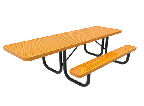 8' Punched Steel ADA Picnic Table