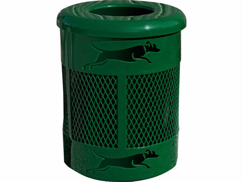 Bone Bin 32 Gallon Dog Park Trash Can
