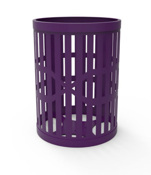 32 Gallon Slatted Steel Can