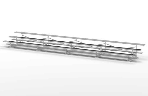 3 Row 54 Seat Aluminum Bleacher