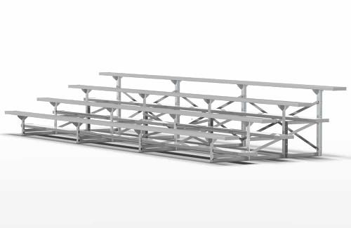 4 Row 56 Seat Aluminum Bleacher