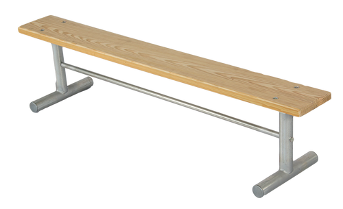 6' Portable Treated Wood Team Bench