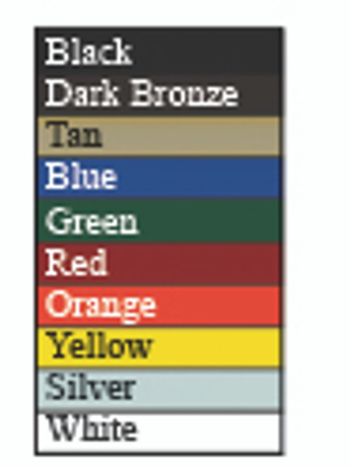 Dual Level ADA Drinking Fountain Color Chart