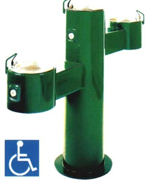 Triple Height Outdoor Drinking Fountain