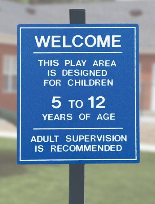 5-12 year old playground sign
