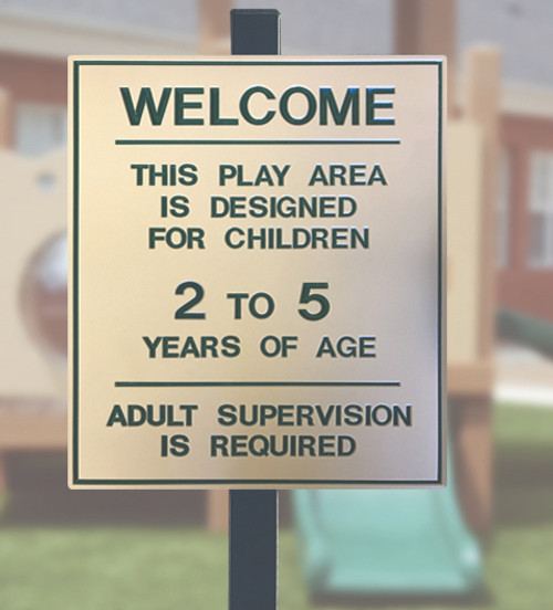 2-5 Year Old Playground Sign